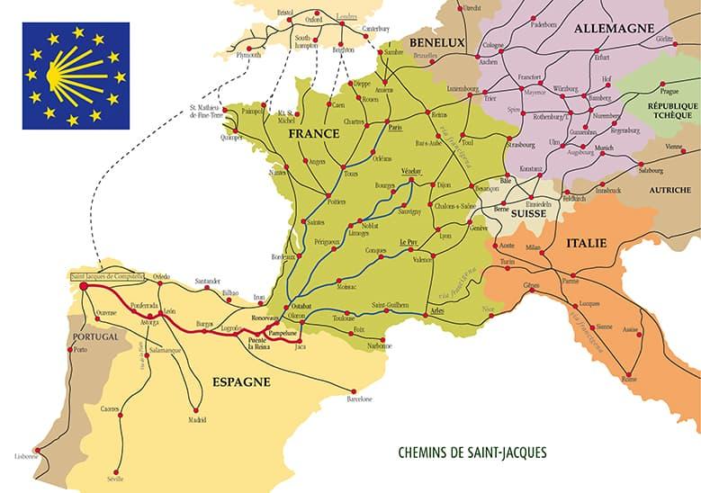Los Caminos de Santiago en Europa. El Camino de Santiago Francés.