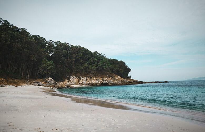 Playas en las Islas Cies