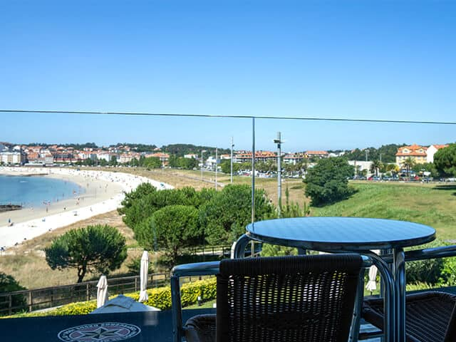 Views of the Baltar Beach from the Inffinit Hotel in Sanxenxo